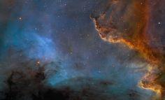 "Il ""muro"" della nebulosa del Cigno / Along the Cygnus Wall Cygnus Constellation, Astronomy Pictures, Western Coast, Alien Worlds, Sky Garden, Across The Universe, Light Year, Picture Day, Hubble Space Telescope"