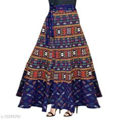 Skirts Women Cotton Casual Blue Long Wrap Around Skirt Fabric: Cotton Pattern: Printed Multipack: 1 Sizes:  Free Size (Waist Size: 38 in Length Size: 40 in Hip Size: 44 in) Country of Origin: India Sizes Available: Free Size, 26, 28, 30, 32, 34, 36, 38, 40, 42, 44, 46 *Proof of Safe Delivery! Click to know on Safety Standards of Delivery Partners- https://ltl.sh/y_nZrAV3  Catalog Rating: ★3.9 (1585)  Catalog Name: Alisha Fabulous Women Ethnic Skirts CatalogID_1887661 C79-SC1040 Code: 082-10376791-
