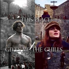 Fort William Prison , where her father was imprisoned and flogged and her mother was taken and attacked by Black Jack Randall Outlander Season 3, Outlander Quotes, Sam Heughan Outlander, Outlander Book, Outlander Knitting, Gabaldon Outlander, Diana Gabaldon, Netflix, True Blood
