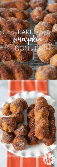 Baked Pumpkin Donuts - the perfect recipe for pumpkin spice fall baking!