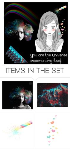 """""""Kawaii Universe"""" by feralkind ❤ liked on Polyvore featuring art"""