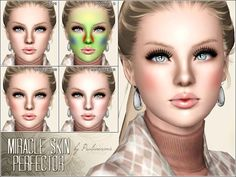 Miracle Skin Perfector realistic foundation (blush) by PralineSims - Sims 3 Downloads CC Caboodle