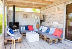 Veranda ocean lodge #buitenhaard #lounge #pallet #stoerbuiten