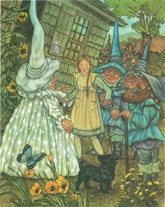 Michael Hague's Illustration from L. Frank Baum's novel The Wizard of Oz.