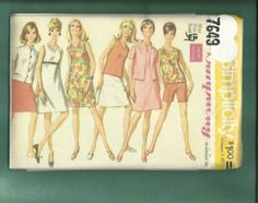 1960's  Simplicity  7649 Summer Time Retro by MrsWooster on Etsy, $9.75