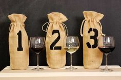 Great New Year's Eve party idea...host a blind wine tasting. Directions for making bags to hide the wines; free downloadable tasting card; tips for the sampling; and how to turn the sampling into a game. Award prizes (what better prize at a wine tasting than a bottle of wine?!).