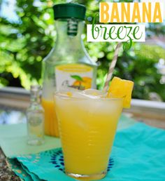 Try a Banana Breeze: a Shark Week inspired banana rum cocktail!