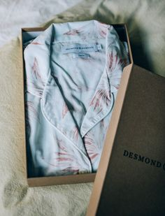 Desmond & Dempsey make beautiful pyjamas from fine cottons available at Merci