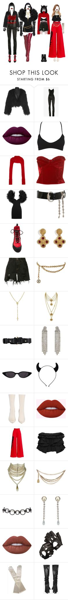 """""""-i've got inspiration"""" by salt-sugar ❤ liked on Polyvore featuring Off-White, Lime Crime, Wet Seal, Paper London, Yves Saint Laurent, Versace, Chanel, Faith Connexion, Bling Jewelry and Juicy Couture"""