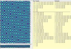 45 tarjetas, 2 colores, repite cada 30 movimientos // sed_237a diseñado con GTT༺❁