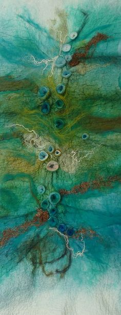 Rae Woolnough love of art and textiles has been a life long passion.Rae exhibits her artwork regularly and held in private collections internationally Art Fibres Textiles, Textile Fiber Art, Textile Artists, Wet Felting, Needle Felting, Organic Forms, Felt Pictures, Creative Textiles, Textile Art