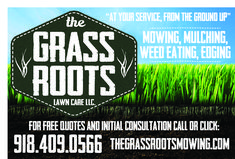 Need a locally owned company to take care of your lawn care needs?  Check out Brad Post and his company Grass Roots!