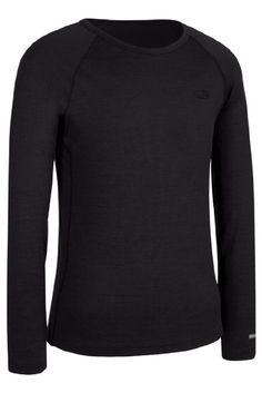 Icebreaker  Boy's Crewe T-shirt, Black, 9-10 Years