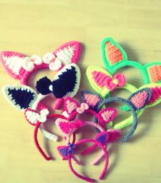 #selfmade  #crochet  Big & Small Kitty/Kitten/Cat  Ears .
