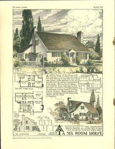1000 images about 1930 1965 minimal traditional on for Cotswold cottage house plans