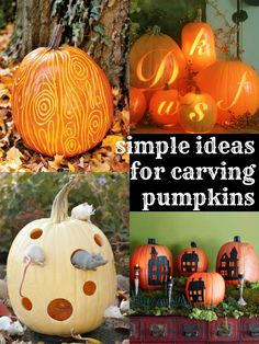 6 Simple Pumpkin Carving Ideas  from Remodelaholic.com
