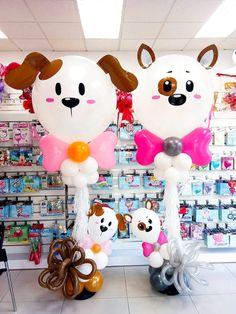 Puppy Birthday, Circus Birthday, Birthday Diy, Birthday Balloons, Diy Birthday Decorations, Balloon Decorations, Giant Balloons, Balloon Columns, Puppy Party