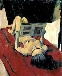 Nude painting by Felice Casorati 1943 (Nudo disteso che legge). Woman Painting, Figure Painting, Painting & Drawing, Italian Painters, Italian Artist, People Reading, Modern Art, Contemporary Art, Figurative Kunst