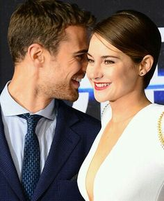 Image about cute in Sheo ❤ by Tris on We Heart It Divergent Trilogy, Divergent Insurgent Allegiant, Tris And Four, Dream Boyfriend, Veronica Roth, Shailene Woodley, Theo James, Fashion Couple, Couple Goals