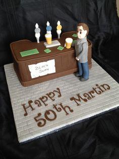 Pub bar themed cake