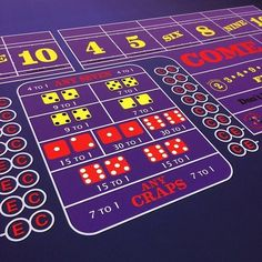 Stock Classic purple craps layout� ����� Wanna see more?  We sell tons of cool casino supplies online.  Link in our bio!