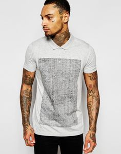 ASOS Polo Shirt With Reverse Print
