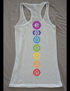 Hey, I found this really awesome Etsy listing at https://www.etsy.com/listing/189970107/chakra-yoga-tank