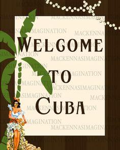 Havana Nights Poster Instant Download by MacKennasImagination