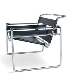 Wassily Chair in Full  Italian Leather Marcel Breuer Style - Onske  - 6