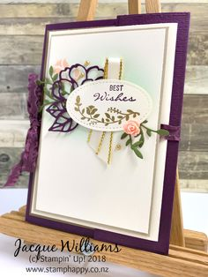 All Stars August Blog Hop - Botanical Bliss Double Opening Card