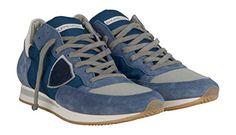 Philippe Model Herren Sneaker blau - 42 - http://on-line-kaufen.de/philippe-model/42-eu-philippe-model-herren-sneaker-blau-2