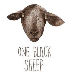sheep...Black sheep..this is me !!!= Joy