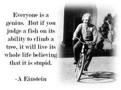 Einstein quote on smart people