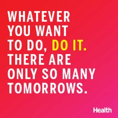 Fitspiration! Whether you're trying to drop a few pounds or looking to train for your first 5K, embrace these 24 motivating health quotes and sayings to keep you on track. | Health.com