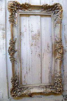 anitaspero:    http://www.etsy.com/shop/AnitaSperoDesign  Beautiful ornate frame. Painted and distressed by #AnitaSperoDesign .