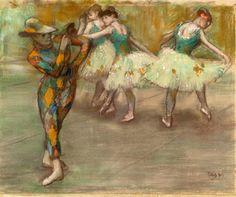 Edgar Degas - Arlequin danse, c. 1890.