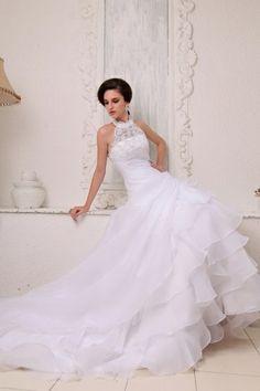 Ballgown application wedding dress
