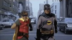 """I sing the old Batman TV show theme song: """"Du na na na. ..."""" They reply """"Batman!"""" —Debbie H."""