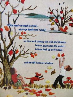 Crewel Embroidery Kit, Erica Wilson, Columbia Minerva, Sampler 7155 Retro 70s Stitchery Kit, Gift for Child, Baby Shower, Nursery Decor by CatBazaar on Etsy