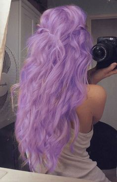 lilac colored hair, i love it!