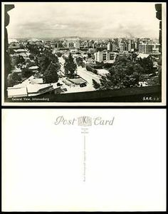 South Africa Old Real Photo Postcard General View of Johannesburg & Street Scene | eBay