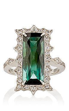 ❇Téa Tosh❇Cathy Waterman, Thorny-Frame Tourmaline Ring