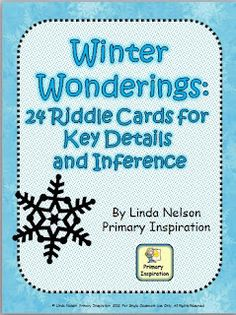 Set of 24 riddle cards for teaching key details & inference...also includes a game using the same vocabulary...CCCS aligned!   $