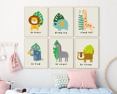 Safari animals printables from Sunny and Pretty. Safari themed nursery wall art, baby safari animals prints.  Nursery prints to complete your décor project. Our printable wall art is made with love and is designed to reflect your décor style, encourage your little one's imagination and create heartwarming memories. 🖤 Get excited about decorating for your little one! #safarinursery #animalnursery #nurserysafari #sunnyandpretty Safari Theme Nursery, Animal Nursery, Woodland Nursery, Nursery Themes, Girl Nursery, Themed Nursery, Nursery Ideas, Nursery Room, Nursery Artwork