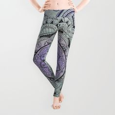 Mandala Violet Leggings by sandybro Purple Leggings, Mandala, Pajama Pants, Pajamas, Stuff To Buy, Fashion, Pjs, Moda, Sleep Pants