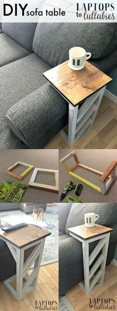nice Easy DIY sofa tables