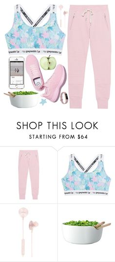 """""""I work out...just kidding"""" by rredamancy ❤ liked on Polyvore featuring Sincerely, Jules, Gwynedds, i.am+, LSA International and Fitbit"""