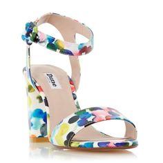 DUNE LADIES MELROSE - Multi Coloured Bubble Print Two Part Sandal - multi | Dune Shoes Online