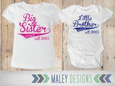 Etsy listing at https://www.etsy.com/listing/223299627/matching-sibling-shirts-big-sister