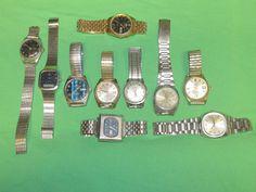 Lot of 10 Vintage Mens Watches Parts Repair Seiko Sony Orient MichaelsTitus #VariousbrandsSeikoSonySeikoOrientTitus